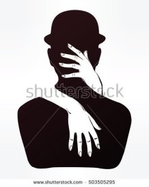 stock-vector-hand-drawn-beautiful-silhouette-artwork-of-couple-in-a-hug-mystic-lady-hugging-a-man-in-a-bowler-503505295